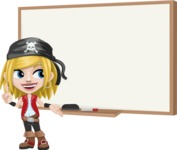 Girl with Pirate Costume Cartoon Vector Character AKA Dea - Presentation 3