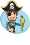 Peg Leg Pirate Cartoon Vector Character AKA Captain Austin - Shape 3
