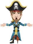 Captain Austin Peg-Leg - Shocked