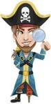 Peg Leg Pirate Cartoon Vector Character AKA Captain Austin - Search