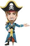 Peg Leg Pirate Cartoon Vector Character AKA Captain Austin - Showcase