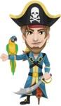 Captain Austin Peg-Leg - Parrot and Sword