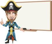 Peg Leg Pirate Cartoon Vector Character AKA Captain Austin - Presentation 3
