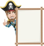 Peg Leg Pirate Cartoon Vector Character AKA Captain Austin - Presentation 4