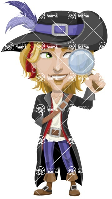 Man with Pirate Costume Cartoon Vector Character AKA Captain Jerad - Search