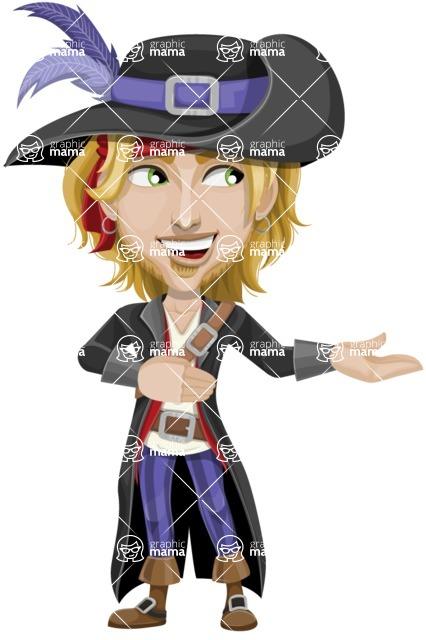 Man with Pirate Costume Cartoon Vector Character AKA Captain Jerad - Showcase 2