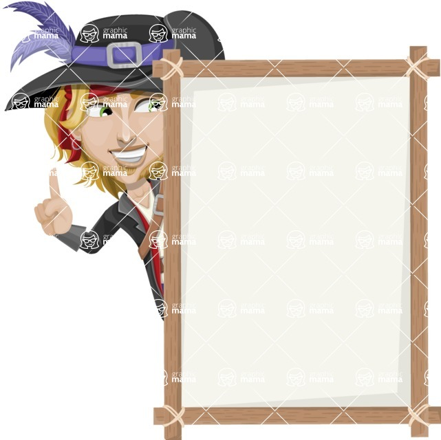 Man with Pirate Costume Cartoon Vector Character AKA Captain Jerad - Presentation 4