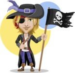 Man with Pirate Costume Cartoon Vector Character AKA Captain Jerad - Shape 8
