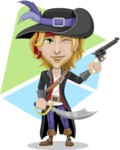 Man with Pirate Costume Cartoon Vector Character AKA Captain Jerad - Shape 9