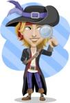 Man with Pirate Costume Cartoon Vector Character AKA Captain Jerad - Shape 11