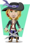 Man with Pirate Costume Cartoon Vector Character AKA Captain Jerad - Shape 12
