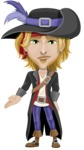 Man with Pirate Costume Cartoon Vector Character AKA Captain Jerad - Sad 2