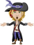 Man with Pirate Costume Cartoon Vector Character AKA Captain Jerad - Shocked