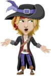 Man with Pirate Costume Cartoon Vector Character AKA Captain Jerad - Lost 2
