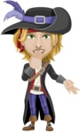 Man with Pirate Costume Cartoon Vector Character AKA Captain Jerad - Blank
