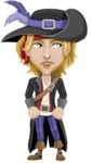 Man with Pirate Costume Cartoon Vector Character AKA Captain Jerad - Bored 2