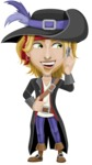 Man with Pirate Costume Cartoon Vector Character AKA Captain Jerad - Support