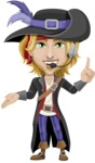 Man with Pirate Costume Cartoon Vector Character AKA Captain Jerad - Support 2