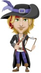 Man with Pirate Costume Cartoon Vector Character AKA Captain Jerad - Note 1