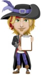 Man with Pirate Costume Cartoon Vector Character AKA Captain Jerad - Note 3