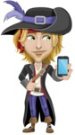 Man with Pirate Costume Cartoon Vector Character AKA Captain Jerad - iPhone
