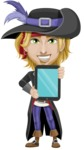 Man with Pirate Costume Cartoon Vector Character AKA Captain Jerad - iPad 1