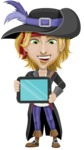 Man with Pirate Costume Cartoon Vector Character AKA Captain Jerad - iPad 2