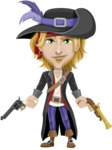 Man with Pirate Costume Cartoon Vector Character AKA Captain Jerad - Gun 2