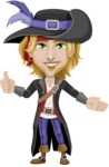 Man with Pirate Costume Cartoon Vector Character AKA Captain Jerad - Show 2