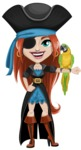 Brianna the Fearless - Eyepatch and Parrot