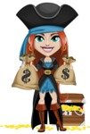 Brianna the Fearless - Treasure chest and bags of money