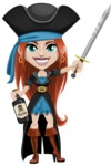 Brianna the Fearless - Bottle of rum and Sword