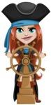 Brianna the Fearless - Ship wheel