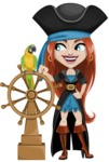 Brianna the Fearless - Ship wheel and Parrot