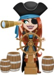 Brianna the Fearless - Ship wheel and Spy glass
