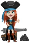 Brianna the Fearless - Cannon with cannon balls