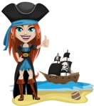 Brianna the Fearless - Pirate ship at sea