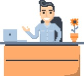 Pixel Art Maker | Create 8 Bit Man Vector Graphic - Pixel Man 10