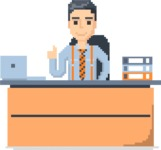 Pixel Art Maker | Create 8 Bit Man Vector Graphic - Pixel Man 27