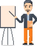 Pixel Design People: The 8bit Men - Pixel Man 9