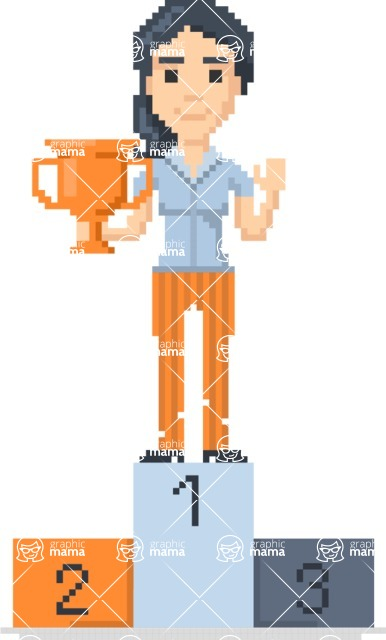 Pixel Art Maker | Create 8 Bit Woman Vector Graphic - Pixel Woman 10