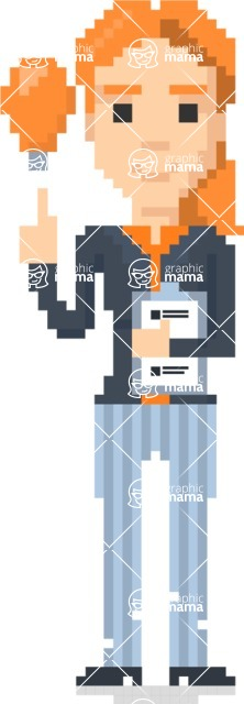 Pixel Art Maker   Create 8 Bit Woman Vector Graphic - Pixel Woman 13
