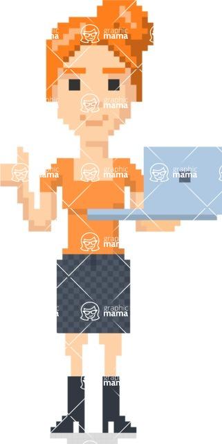 Pixel Art Maker | Create 8 Bit Woman Vector Graphic - Pixel Woman 14