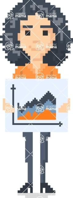 Pixel Art Maker   Create 8 Bit Woman Vector Graphic - Pixel Woman 15