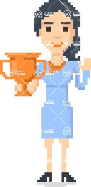 Pixel Art Maker | Create 8 Bit Woman Vector Graphic - Pixel Woman 16