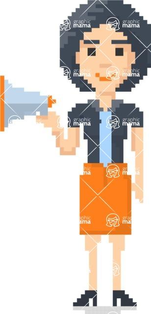 Pixel Art Maker   Create 8 Bit Woman Vector Graphic - Pixel Woman 17