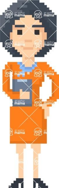 Pixel Art Maker | Create 8 Bit Woman Vector Graphic - Pixel Woman 2