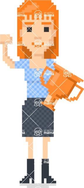 Pixel Art Maker | Create 8 Bit Woman Vector Graphic - Pixel Woman 23
