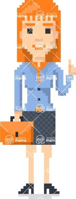 Pixel Art Maker | Create 8 Bit Woman Vector Graphic - Pixel Woman 25