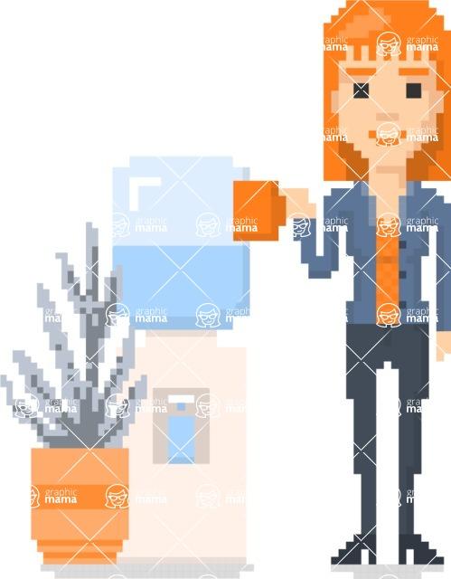 Pixel Art Maker | Create 8 Bit Woman Vector Graphic - Pixel Woman 27